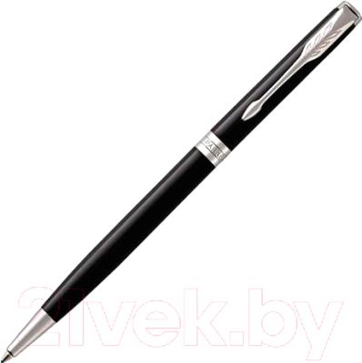 Ручка шариковая Parker Sonnet Slim Lacquer Deep Black CT 1931503