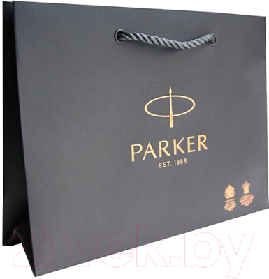 Ручка шариковая Parker Sonnet Lacquer Deep Black CT + чехол 2018900