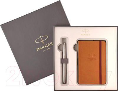 Письменный набор Parker Sonnet Stainless Steel CT + блокнот / 2018973