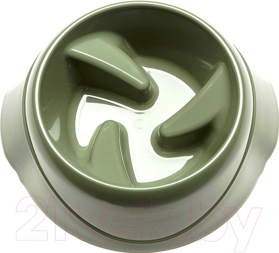 Купить Миска для животных Ferplast, Magnus Slow Medium / 71133099 (хаки), Италия, зеленый, пластик