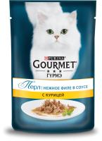 Корм для кошек Gourmet Perle Мини-Филе с курицей в подливе (85г) -
