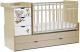 Детская кроватка СКВ Коала / 521035-1 (береза/белый) -
