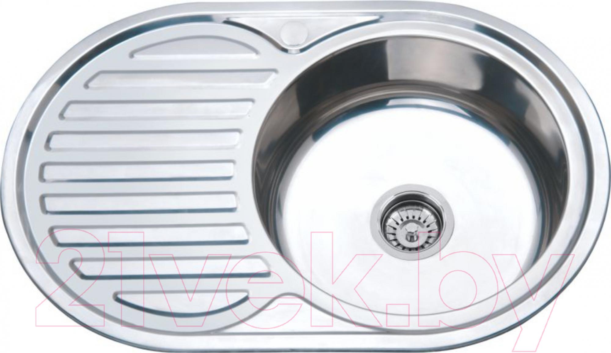 Купить Мойка кухонная РМС, MG8-7750OVR, Россия, нержавеющая сталь