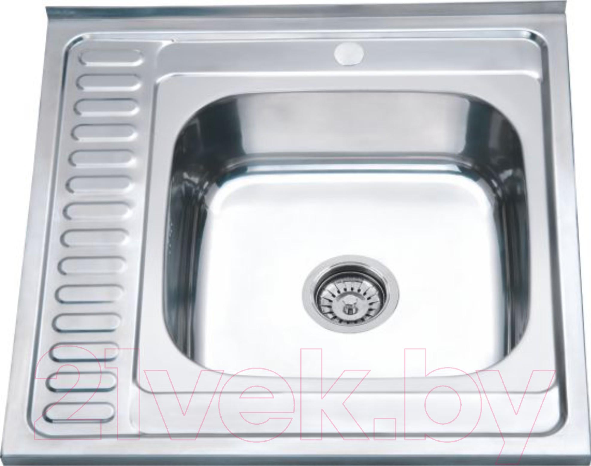Купить Мойка кухонная РМС, MS8-6060R, Россия, нержавеющая сталь