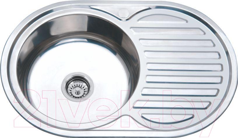 Купить Мойка кухонная РМС, MS8-7750OVL, Россия, нержавеющая сталь
