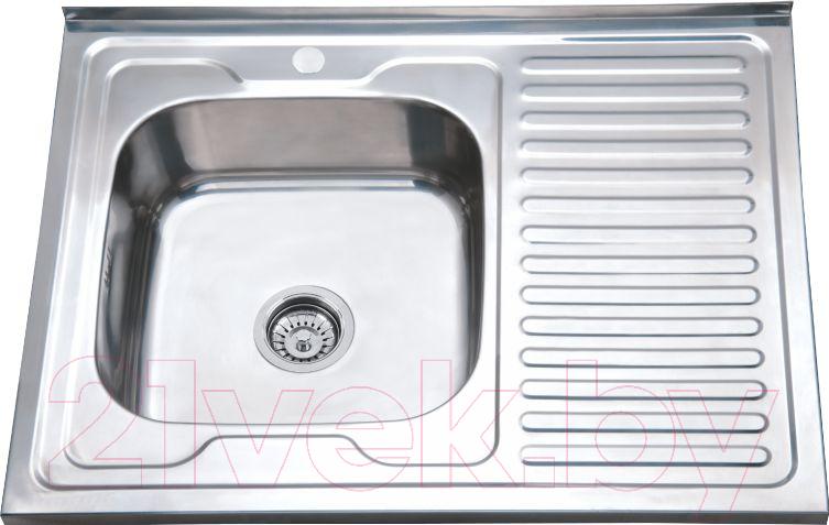 Купить Мойка кухонная РМС, MS8-8060L, Россия, нержавеющая сталь