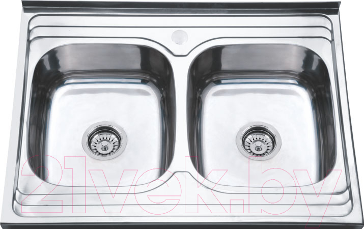 Мойка кухонная РМС, MS8-8060-2, Россия, нержавеющая сталь  - купить со скидкой
