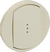 Лицевая панель для выключателя Legrand Celiane 66210 с индикацией (слоновая кость) -