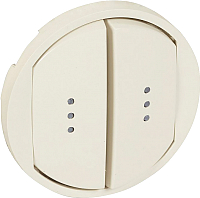 Лицевая панель для выключателя Legrand Celiane 66211 с индикацией (слоновая кость) -
