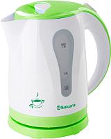 Электрочайник Sakura SA-2326G (белый/зеленый) -