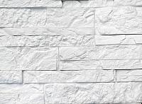 Декоративный камень Polinka Сланец Карпатский белый У1400 угловой элемент (395×95×18) -