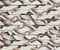 Декоративный камень Polinka Кирпичный скол бежевый мрамор 0802М (225×59×13) -
