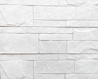 Декоративный камень Polinka Плита составная белый 1100 (364×97×15) -