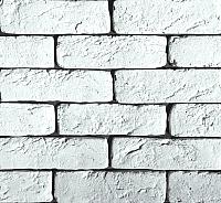 Декоративный камень Polinka Кирпич шамотный белый У0300 угловой элемент (195x58-62+105x58-62x6) -