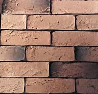 Декоративный камень Polinka Кирпич шамотный коричневый У0304 угловой элемент (195x58-62+105x58-62x6) -