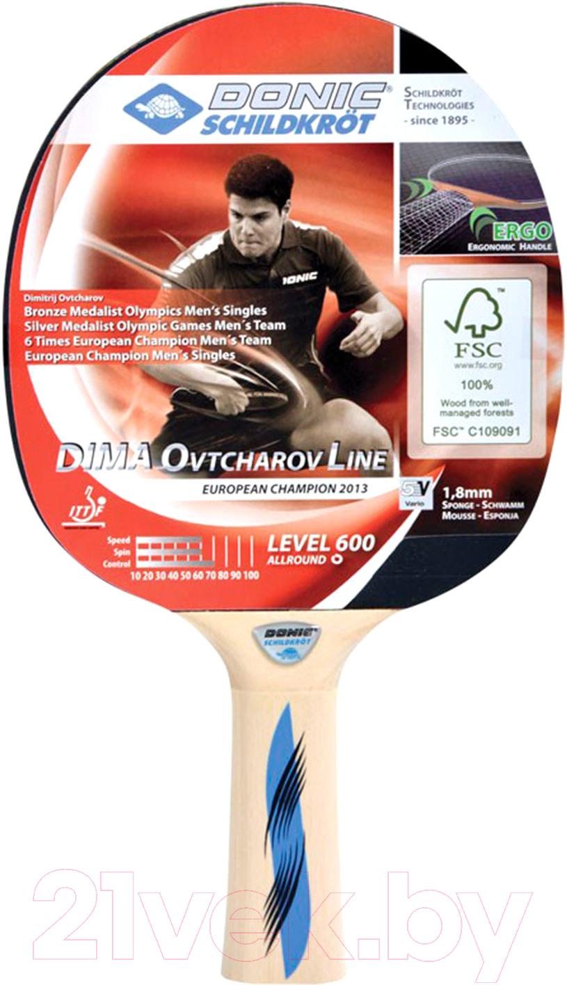 Ракетка для настольного тенниса Donic Schildkrot, Ovtcharov 600 FSC, Китай  - купить со скидкой