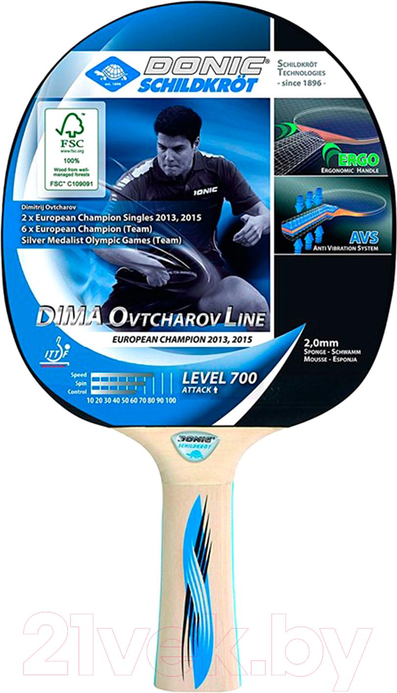 Купить Ракетка для настольного тенниса Donic Schildkrot, Ovtcharov 700 FSC 2mm, Китай