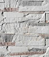 Декоративный камень Polinka Сланец Византийский Угол слоновая кость У0901 (330-340x97+(170-185)x97x15) -