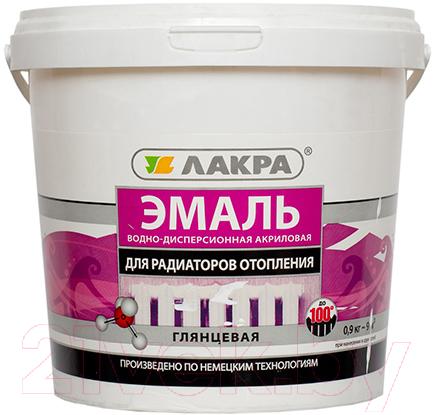 Купить Эмаль Лакра, Акриловая для радиаторов (900г, белый глянец), Россия