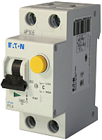 Дифференциальный автомат Eaton PFL4 1Р+N 10А 30мА С 4.5кА 2М / 293297 -
