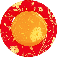 Тарелка закусочная (десертная) Pasabahce Серенейд Оранж 10327/1018949 -