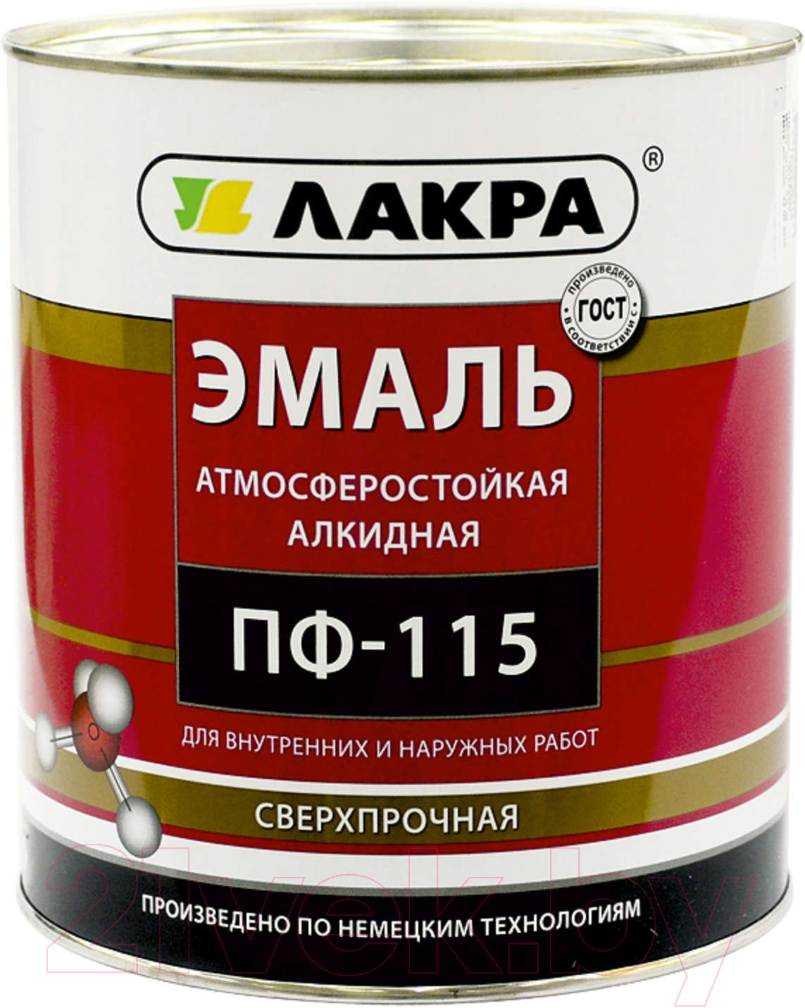 Купить Эмаль Лакра, ПФ-115 (900г, белый глянцевый), Россия
