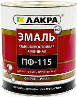Эмаль Лакра ПФ-115 (2кг, шоколадно-коричневый) -
