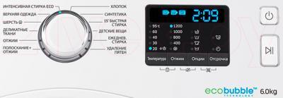 Стиральная машина Samsung WW60H2200EWDLP - панель управления
