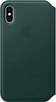 Чехол-книжка Apple Leather Folio для iPhone XS Forest Green / MRWY2 -