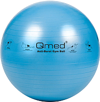 Фитбол гладкий Qmed ABS Gym Ball 75 см (голубой) -