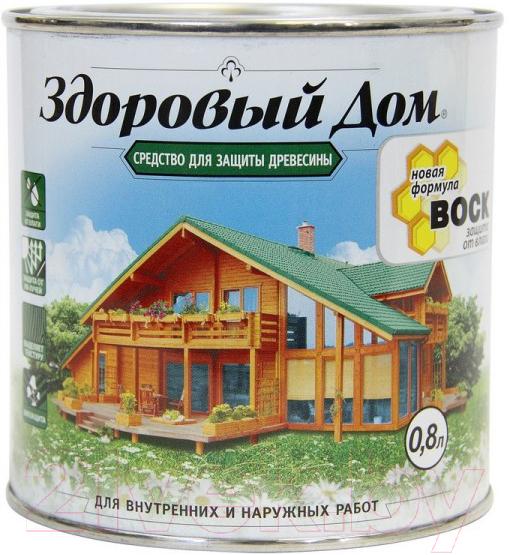 Купить Защитно-декоративный состав Здоровый дом, Бесцветный (800мл), Россия, бесцветный