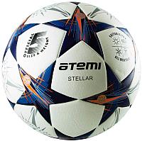 Футбольный мяч Atemi Stellar (размер 5, белый/синий/оранжевый) -