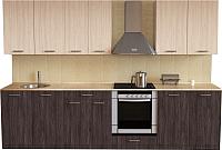 Готовая кухня Хоум Лайн Луиза Люкс 2.8 (флитвуд серая лава/флитвуд белый) -