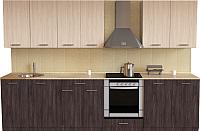 Готовая кухня Хоум Лайн Луиза Люкс 2.9 (флитвуд серая лава/флитвуд белый) -