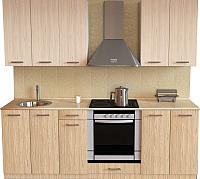 Готовая кухня Хоум Лайн Луиза Люкс 2.1 (флитвуд шампань/флитвуд белый) -