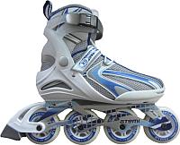 Роликовые коньки Atemi X9 Lady Abec7 (р-р 37, синий/белый/серый) -