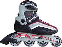 Роликовые коньки Atemi X5 Man Abec5 (р-р 44, красный/черный/серый) -