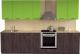 Готовая кухня Хоум Лайн Луиза Люкс 2.8 (флитвуд серая лава/зеленый лайм) -