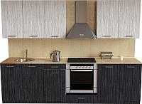 Готовая кухня Хоум Лайн Луиза Люкс 2.6 (древесина графит/древесина белая) -