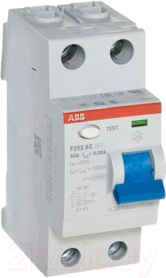 Устройство защитного отключения ABB F202 2P 16A 10mA 6kА 2М / 2CSF202001R0160