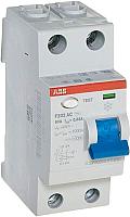 Устройство защитного отключения ABB F202 2P 25A 30mA 6kА 2М / 2CSF202001R1250 -