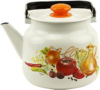 Чайник Лысьвенские эмали Итальянская кухня С-2713 П2/4Рч -
