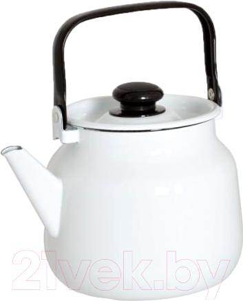 Купить Чайник Лысьвенские эмали, С-2713 П2/Рч, Россия, белый