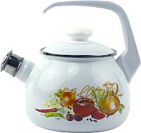 Чайник со свистком Лысьвенские эмали Итальянская кухня С-2711 АП/4Рч -