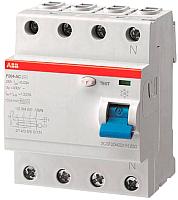 Устройство защитного отключения ABB F204 4P 25A 30mA 6kА 4М / 2CSF204001R1250 -