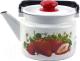 Чайник Лысьвенские эмали Сочная клубника С-2710 П2/4Рч -