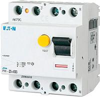 Устройство защитного отключения Eaton PF4 4P 25A 30мА 4.5кА 4М / 293173 -
