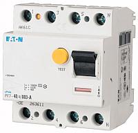 Дифференциальный автомат Eaton PF7 4P 63A 30мА 10кА 4M G / 263625 -