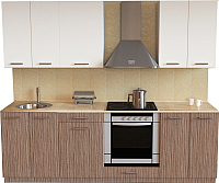 Готовая кухня Хоум Лайн Луиза Люкс 2.3 (древесина шорвуд/белый) -
