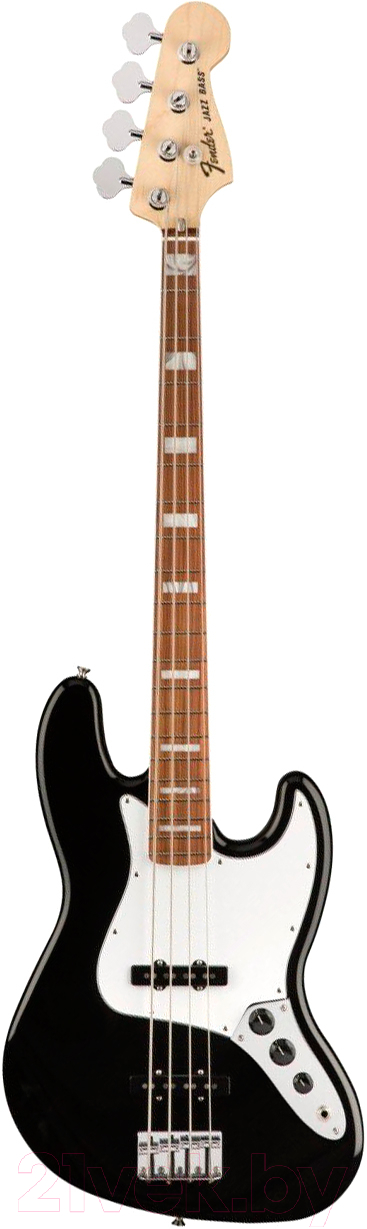 Купить Бас-гитара Fender, 70s Jazz Bass Pau Ferro Black, Китай